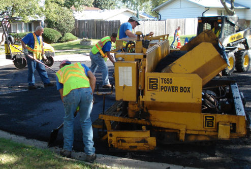 street being paved